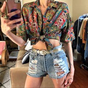 Vintage button front blouse